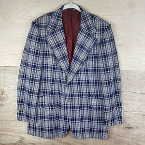 Johnny Carson Vintage USA 1970's Wool Blazer